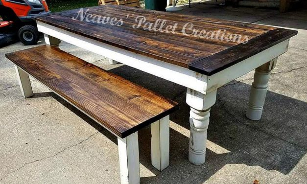 Repurposed Pallets Wood Large Dining Set