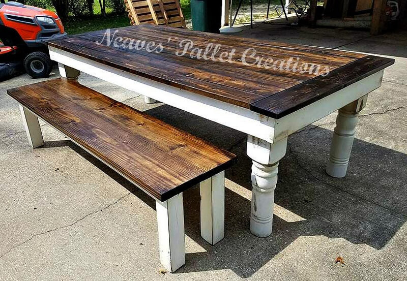recycled pallets dining