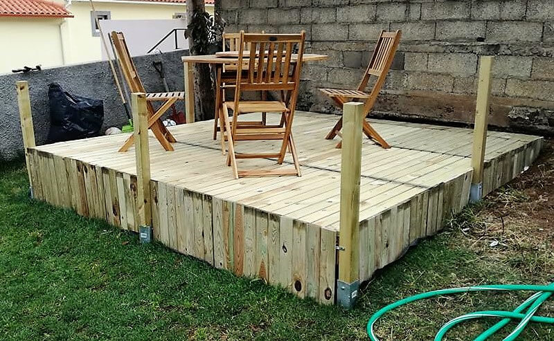 recycled pallets garden terrace