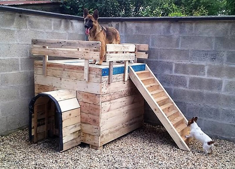 recycled pallets wood dog house