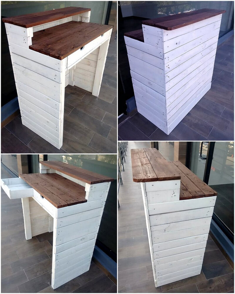 recycled wood pallets counter