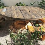 Recycled Pallets Cable Reel Patio Furniture Idea