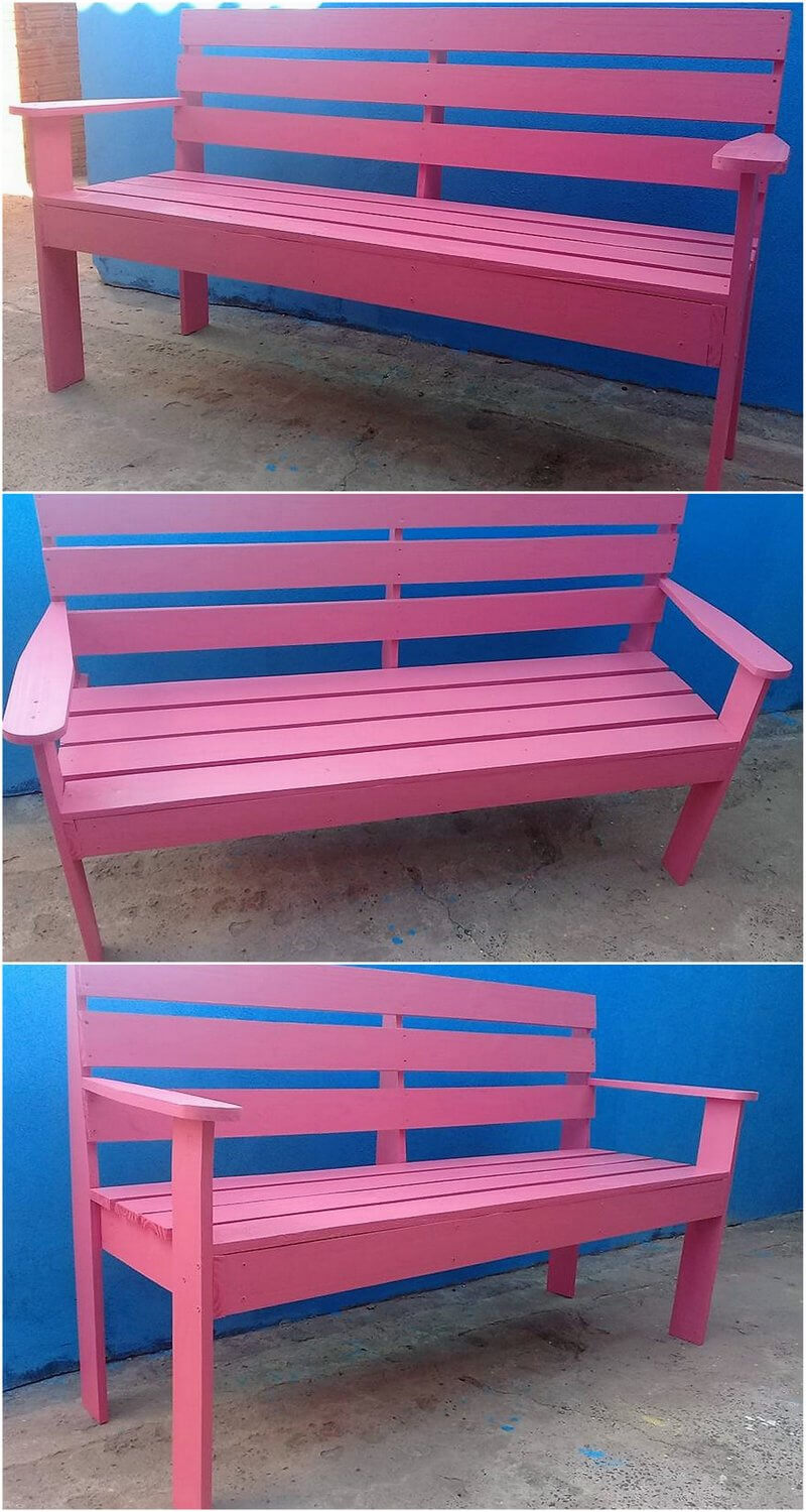 repurposed pallets patio bench