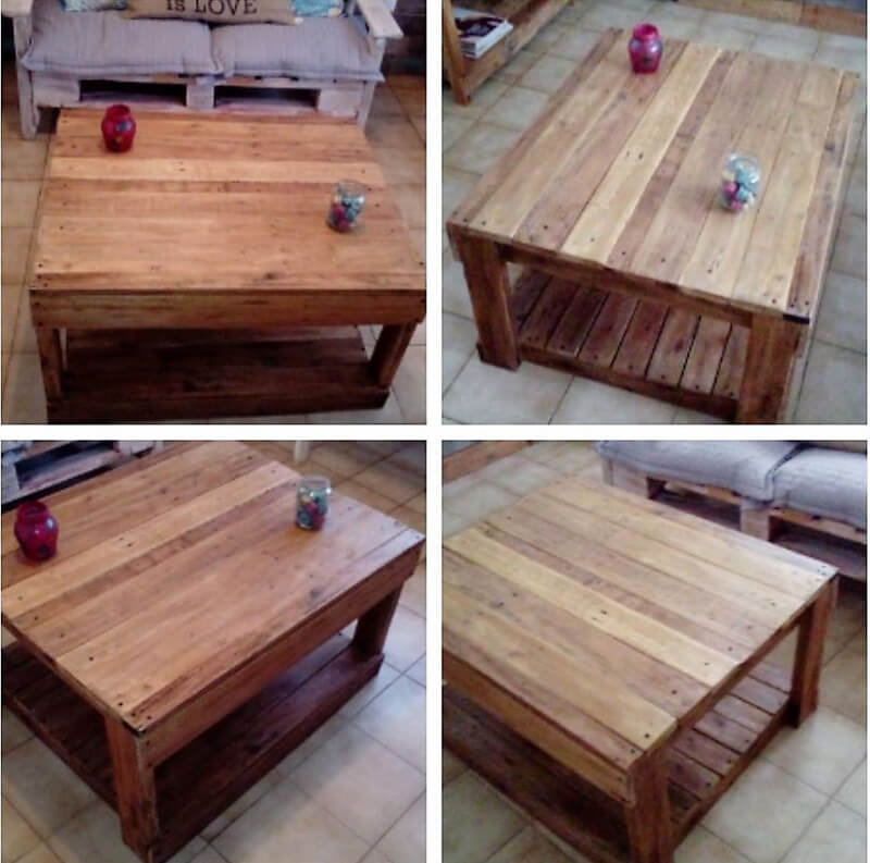 repurposed pallets table