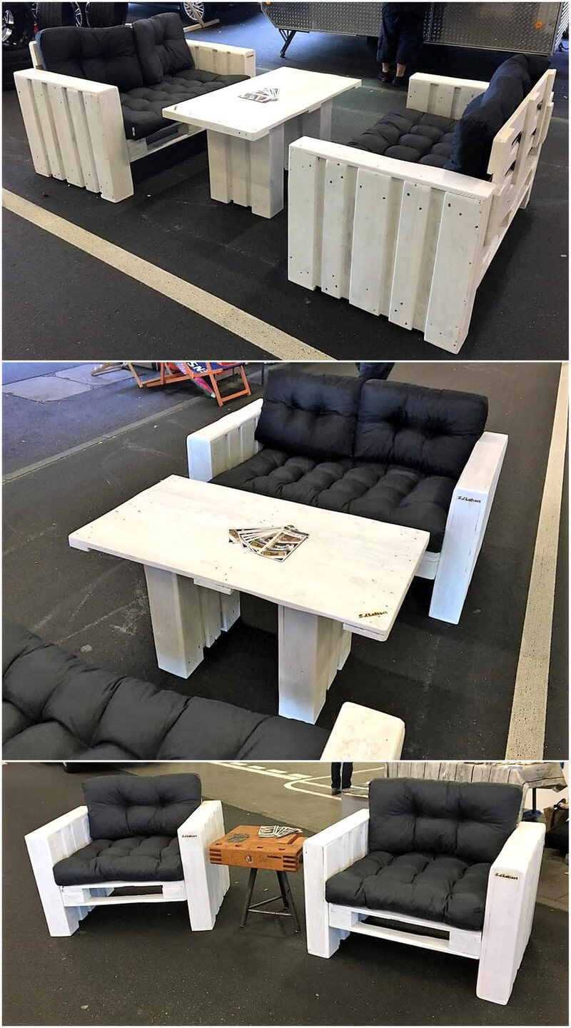 repurposed wooden pallets furniture