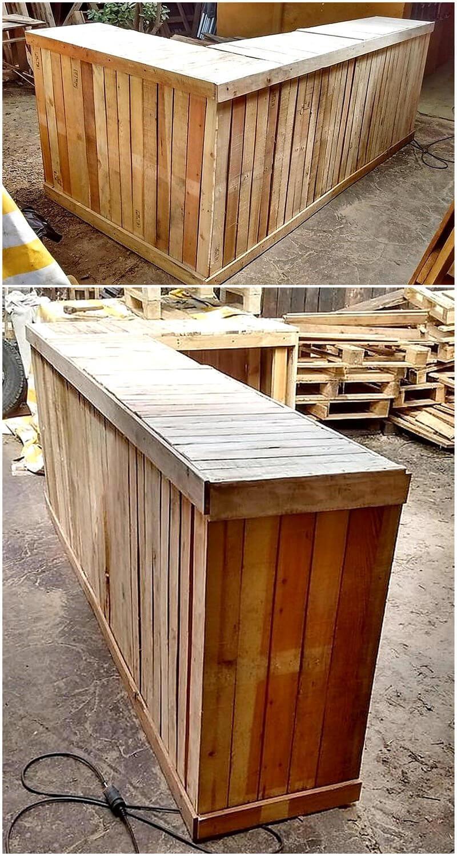reused pallets bar