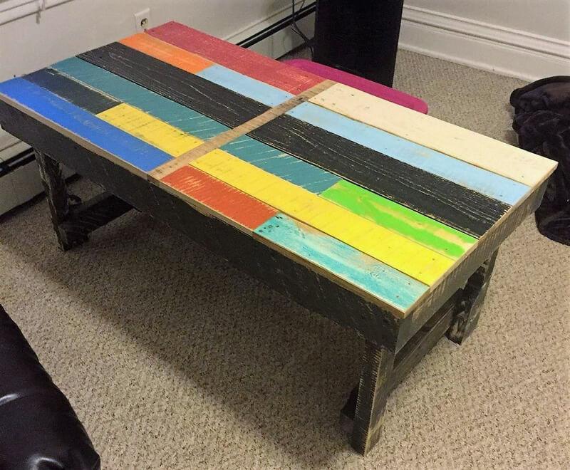 rustic pallet wood table