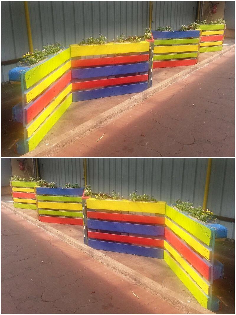 simple pallet wooden planters