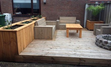 DIY Wood Pallets Made Terrace Project