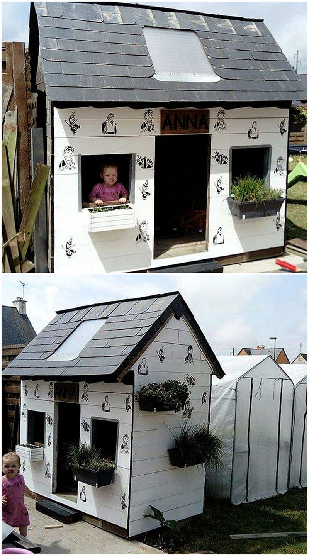 wood pallets kids playhouse