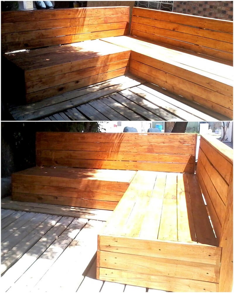 wood pallets patio couch