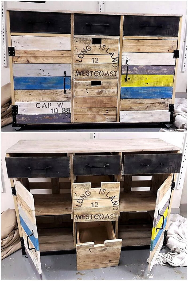 wood pallets tv stand idea