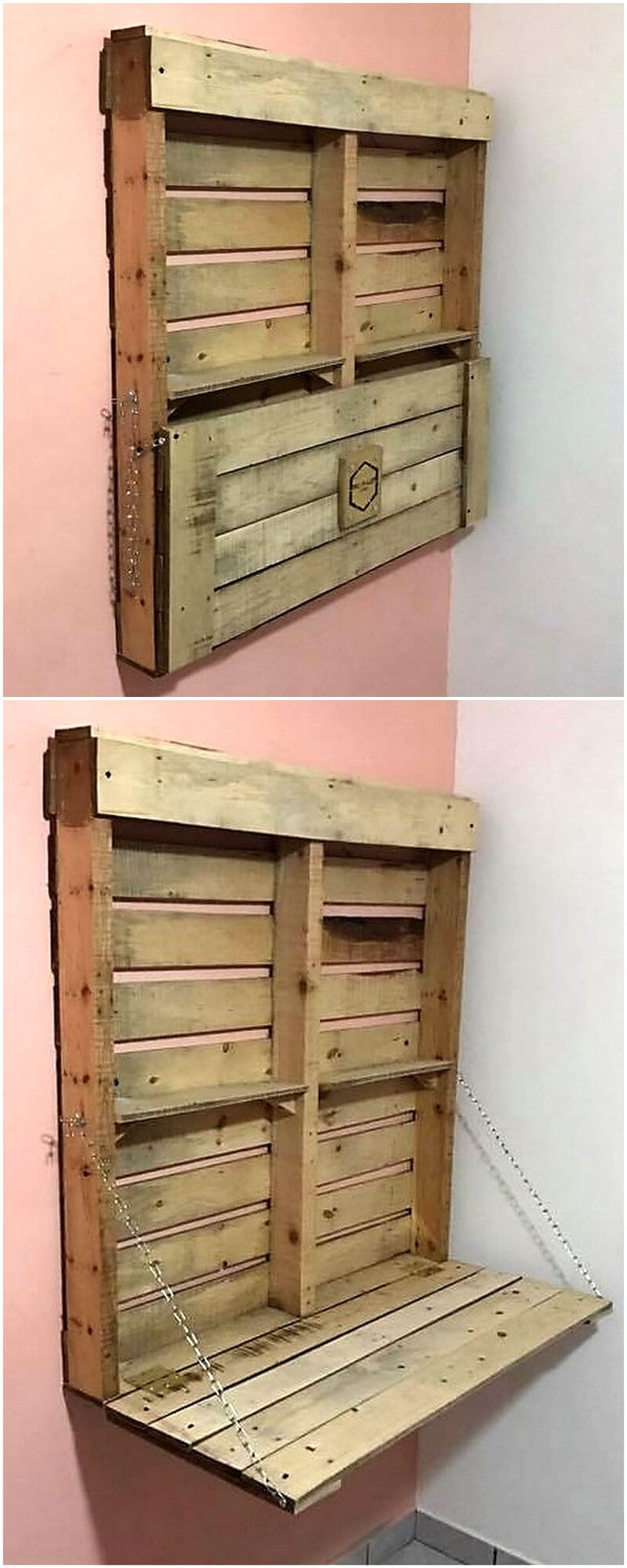 wood pallets wall rack