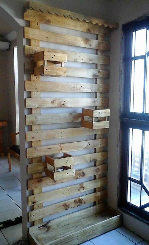 wooden pallet wall decor planter