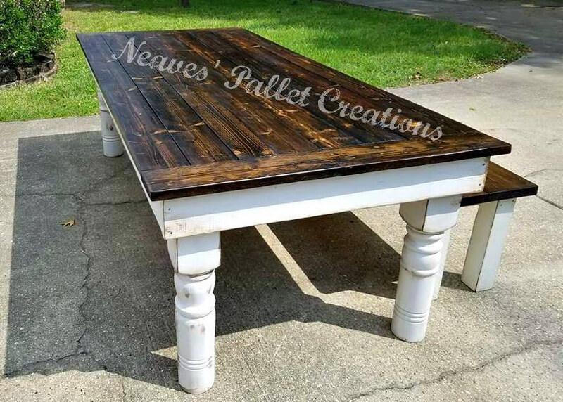 wooden pallets dining set