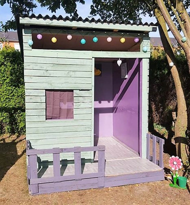 wooden pallets kids playhouse