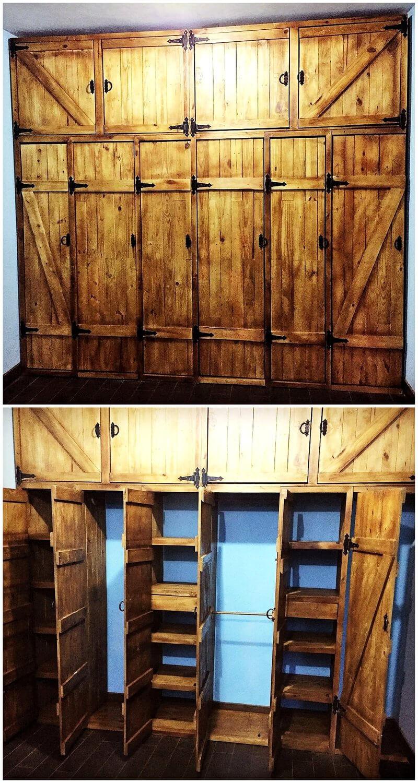 wooden pallets vintage closet