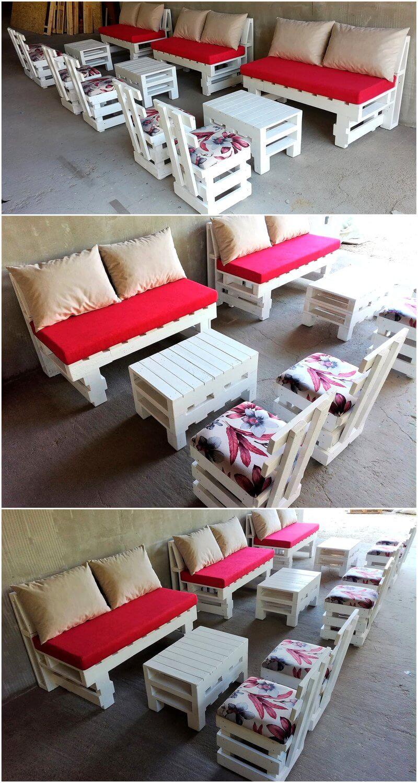 Creative Idea of Pallet Wooden Furniture Set