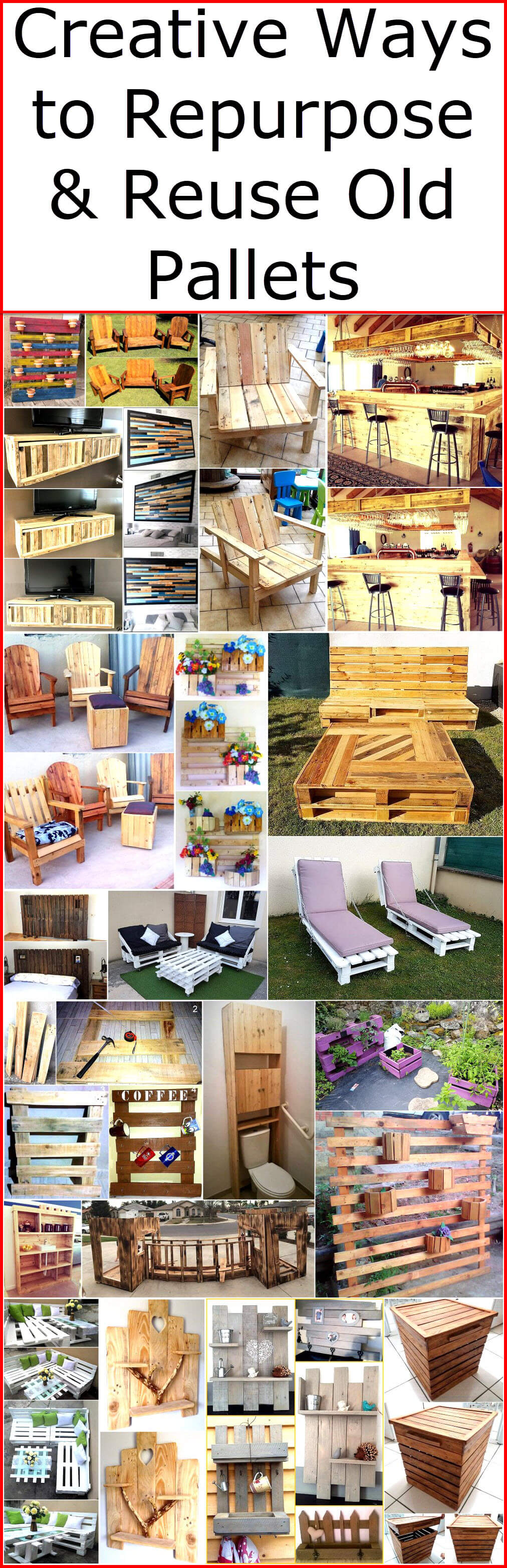 creative ways to repurpose reuse old pallets wood pallet furniture - Reuse Repurpose
