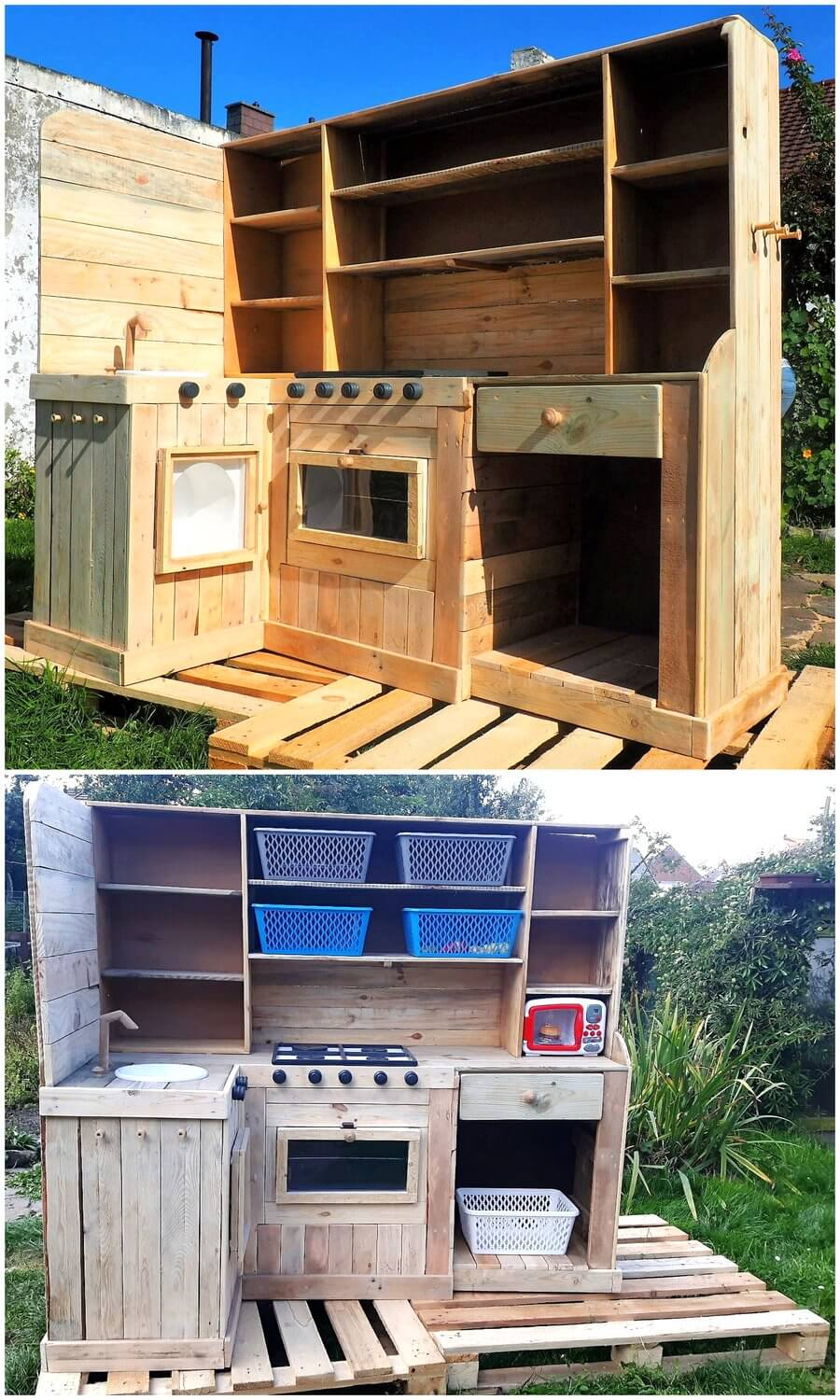 Kids Play Mud Kitchen Made with Pallets