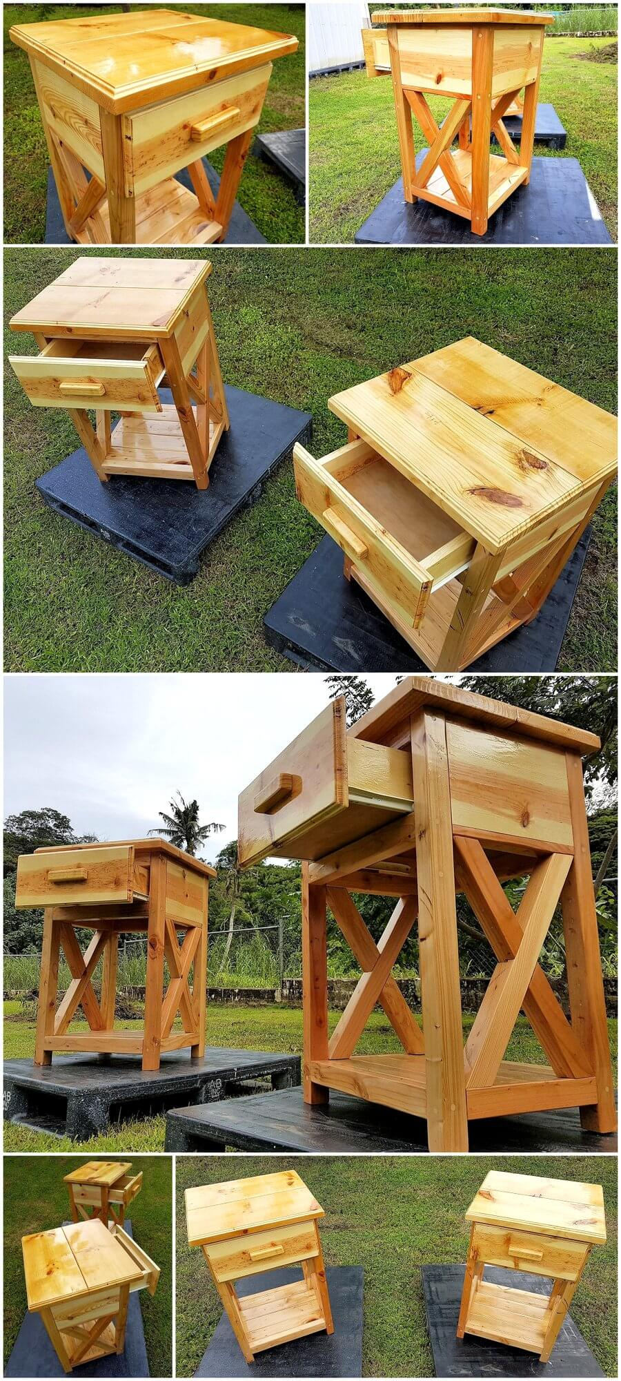 Recycled Wood Pallets Side Tables
