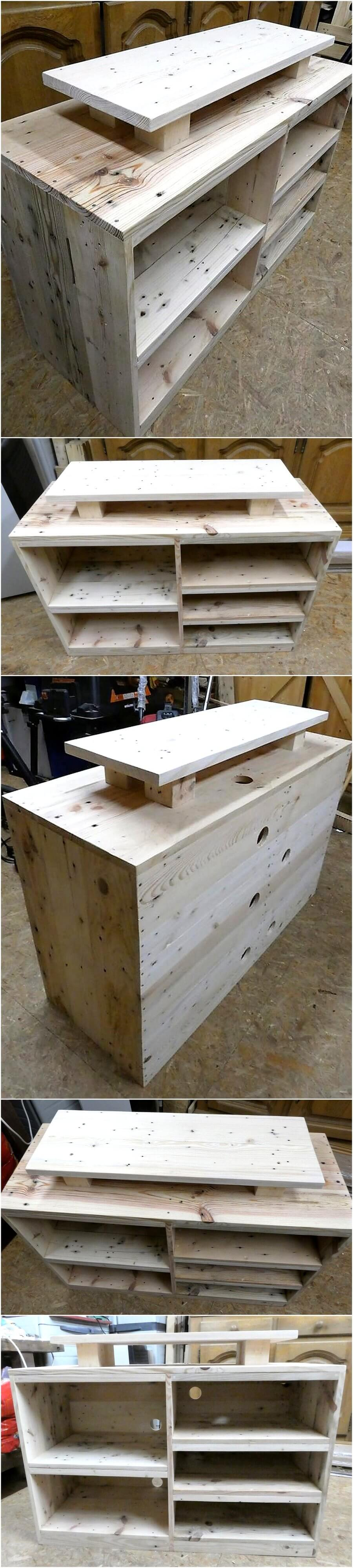 Repurposed Wood Pallets TV Stand Idea