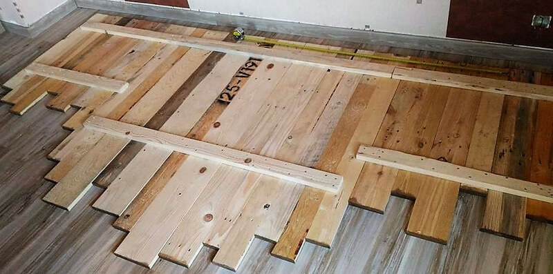 diy pallets wooden headboard