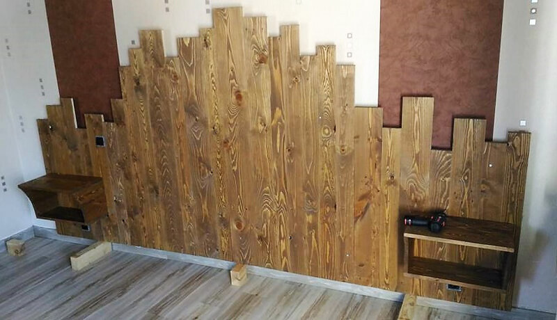diy recycled pallets bed headboard