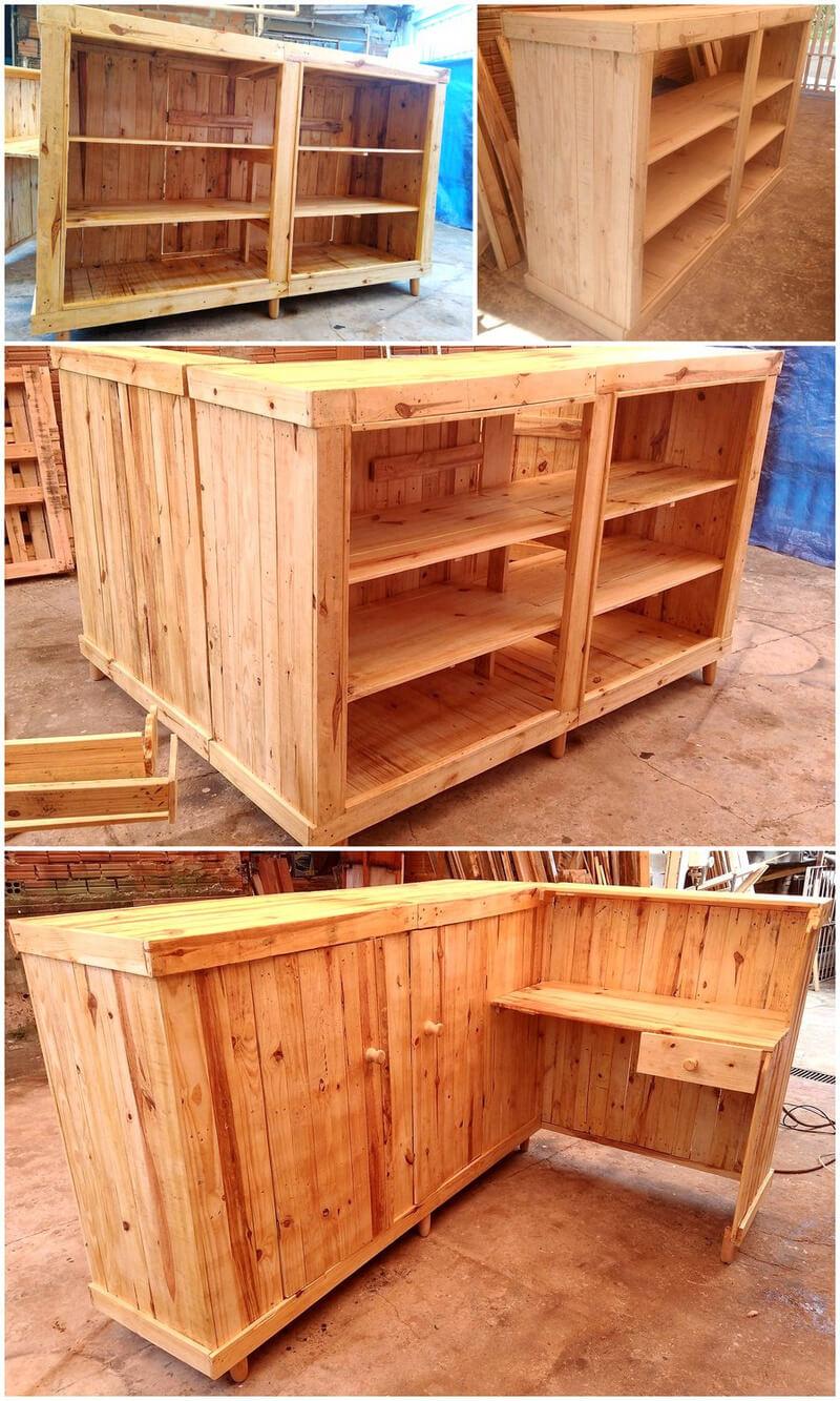diy wood pallets bar counter