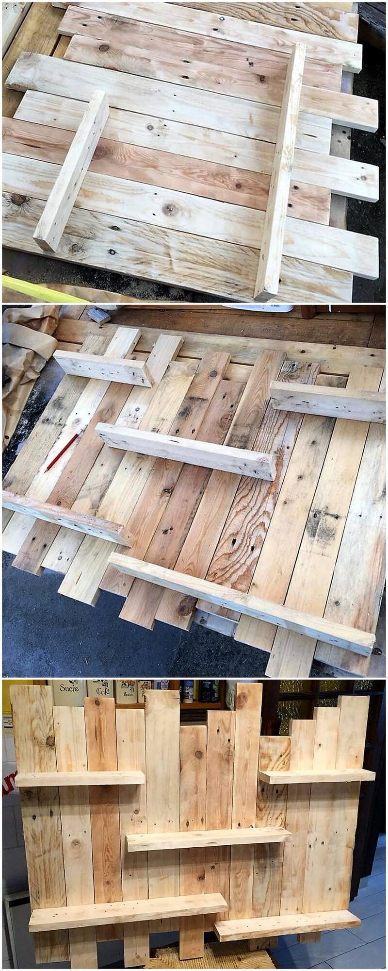 diy wooden pallets shelf