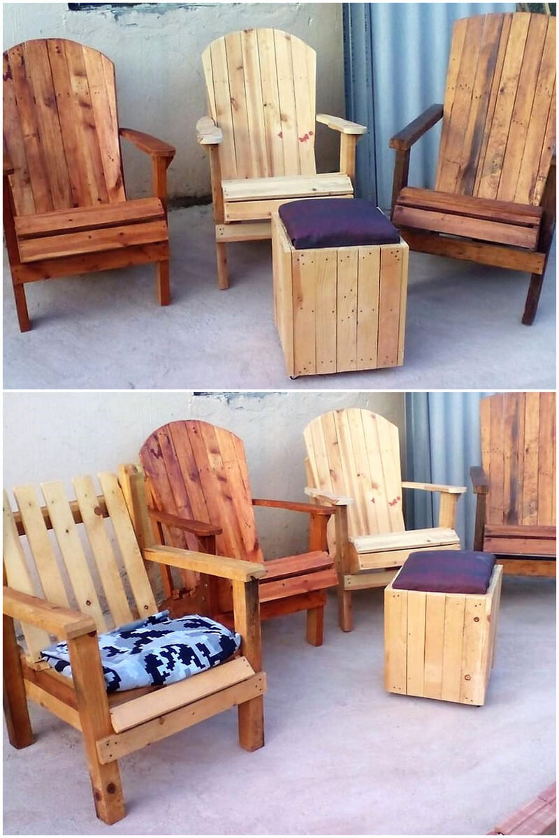 pallet chairs set