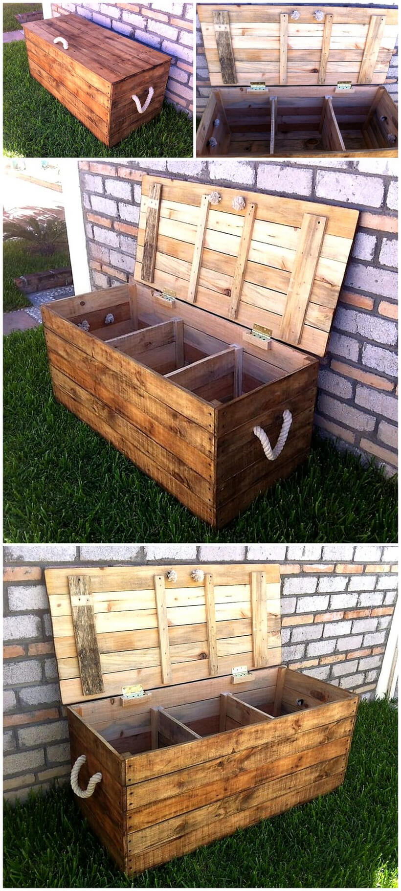 pallet garden tools storage chest