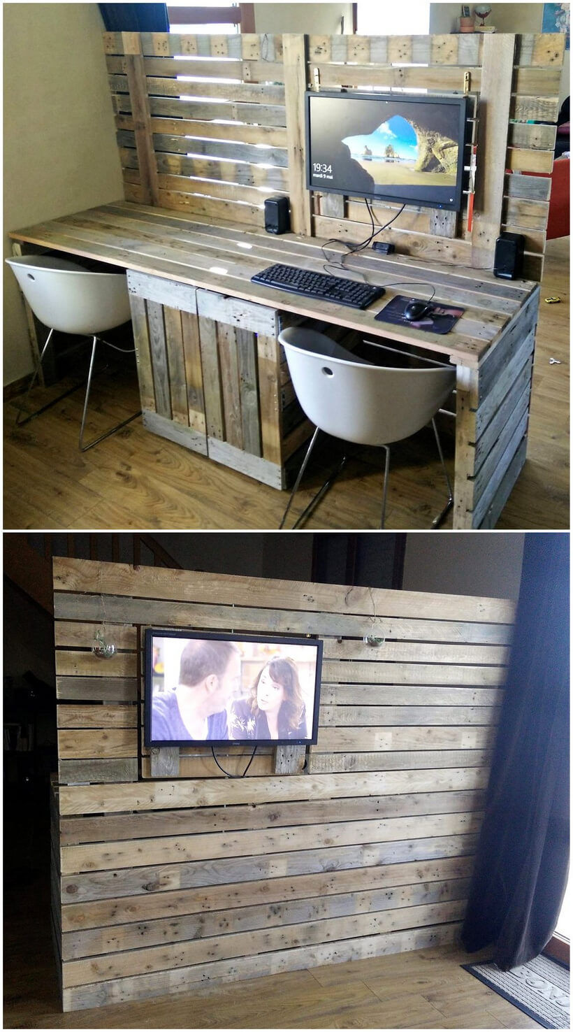pallet pc desk idea