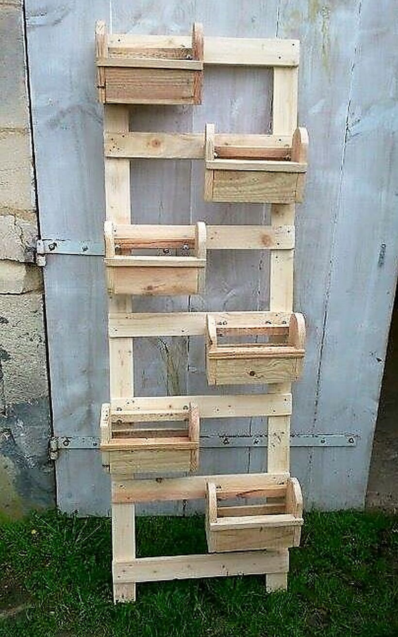 pallet verticle pots stand