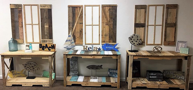 pallets entryway furniture with wall works