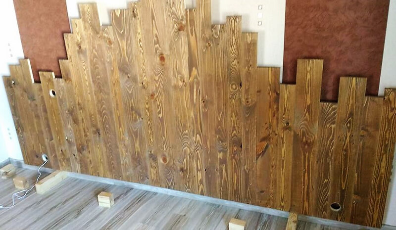 pallets headboard diy