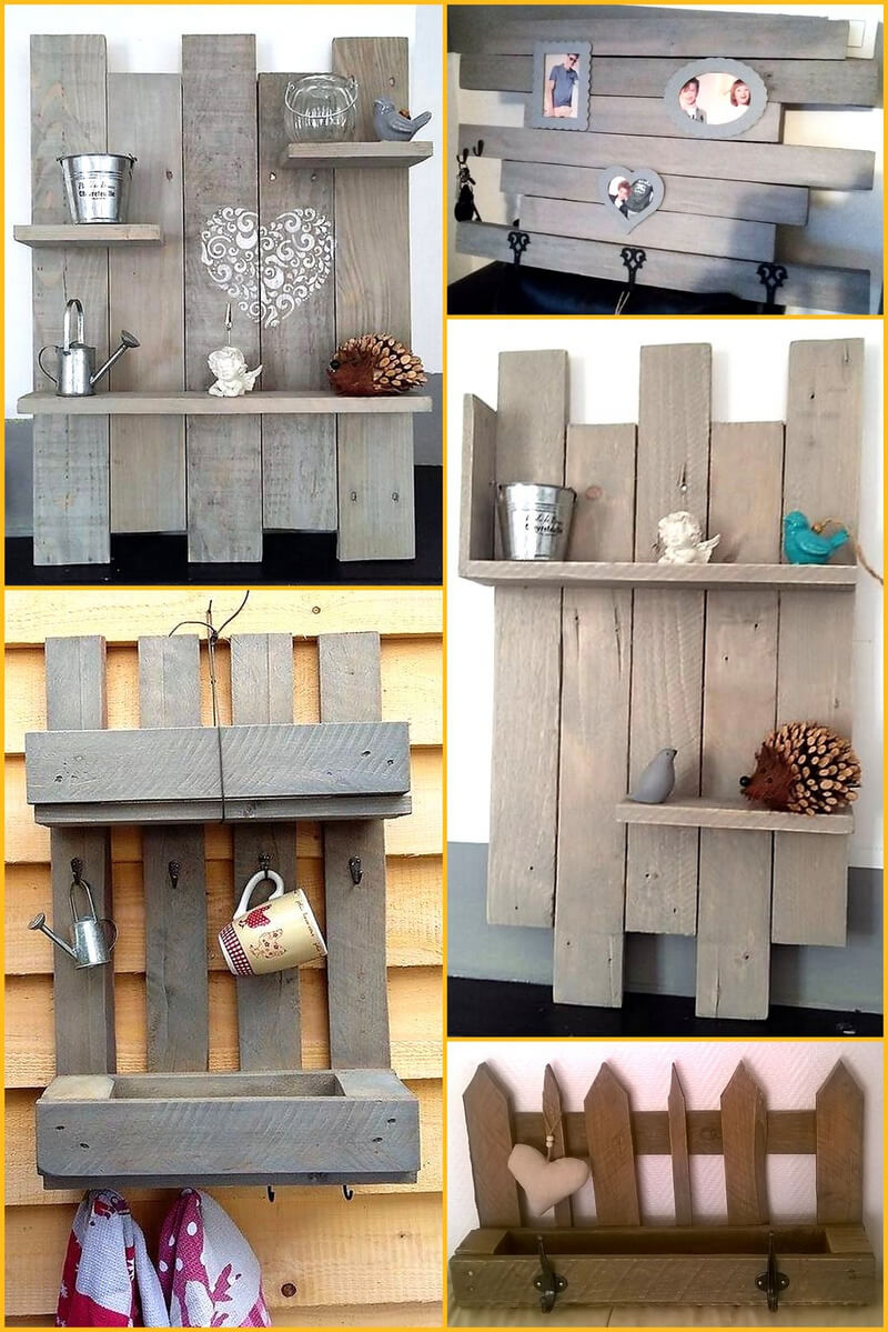pallets made shelves