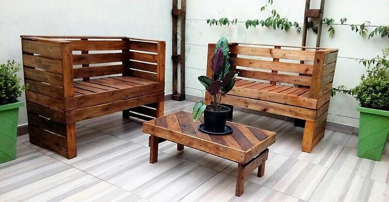 pallets patio furniture idea