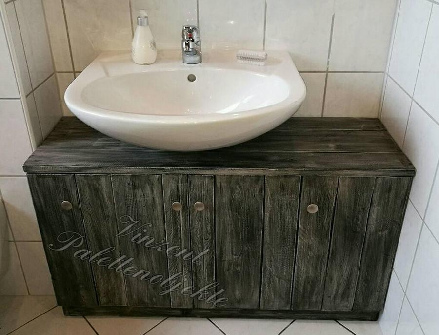 pallets storage cabinet for bathroom