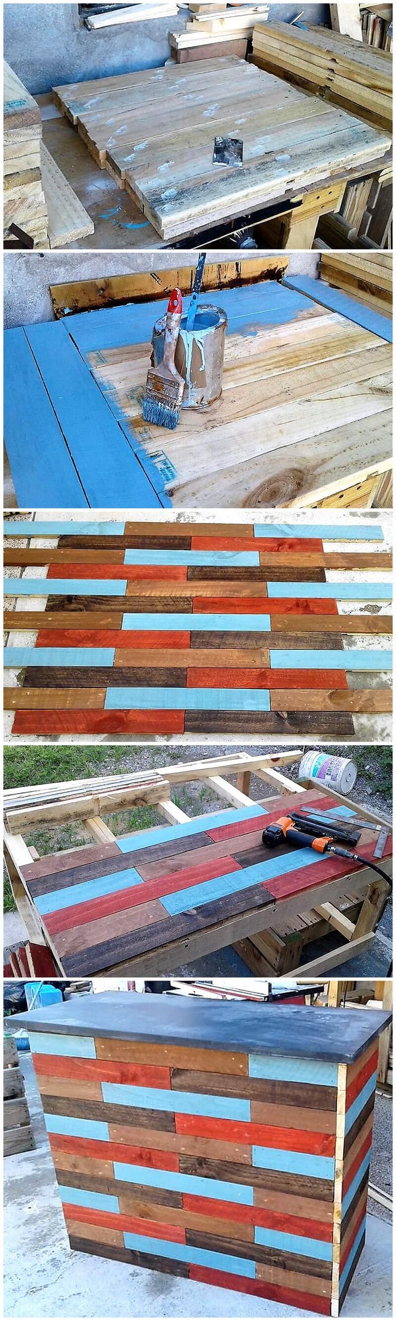 pallets wooden bar idea