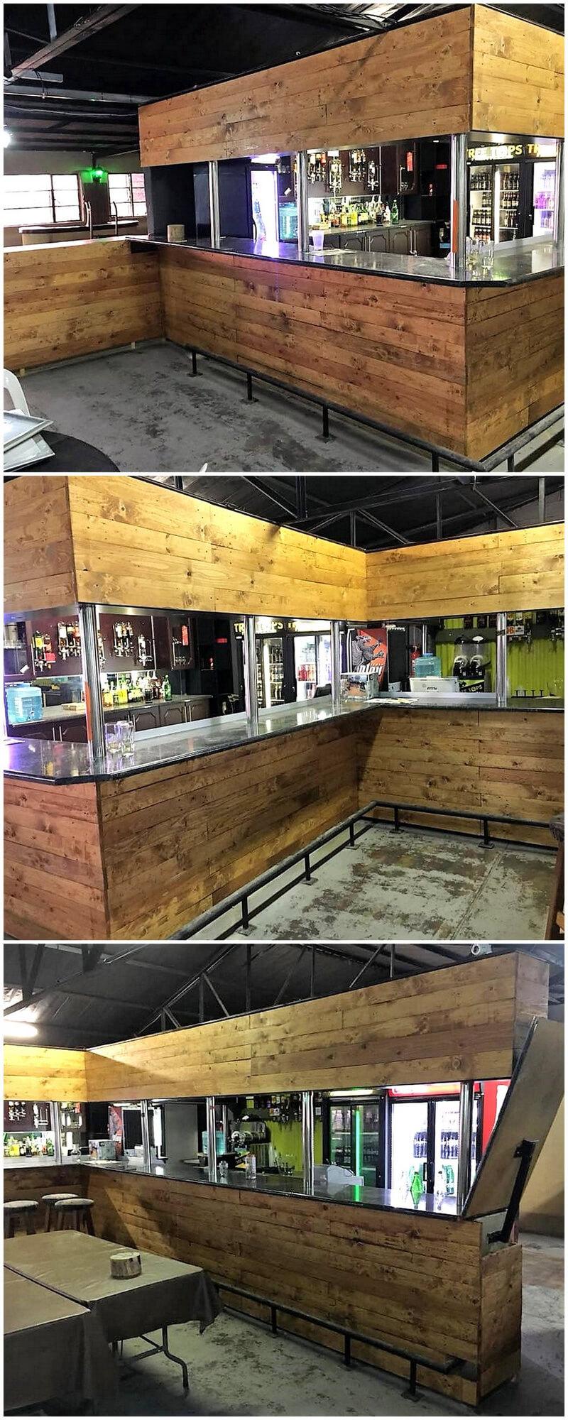 pallets wooden bar plan