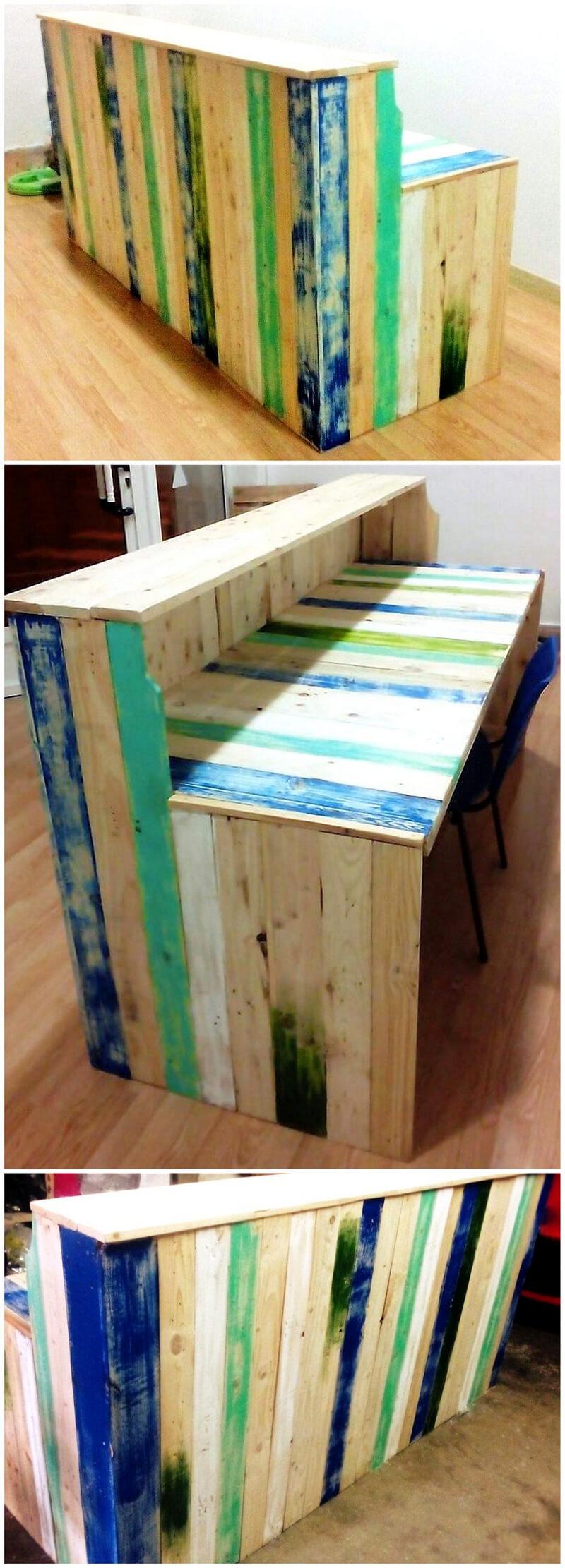 pallets wooden bar