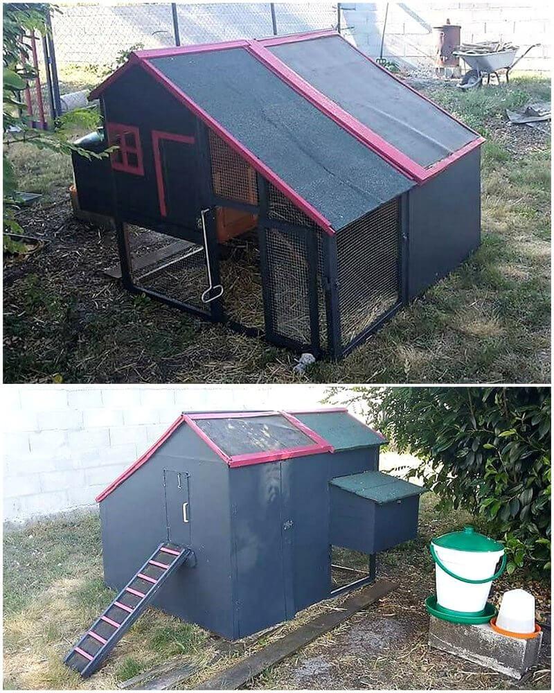 pallets wooden chicken coop