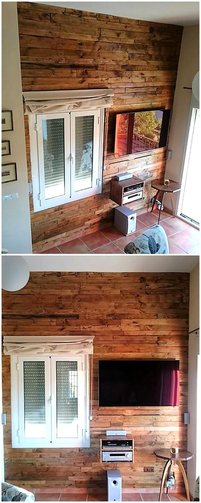 pallets wooden wall art