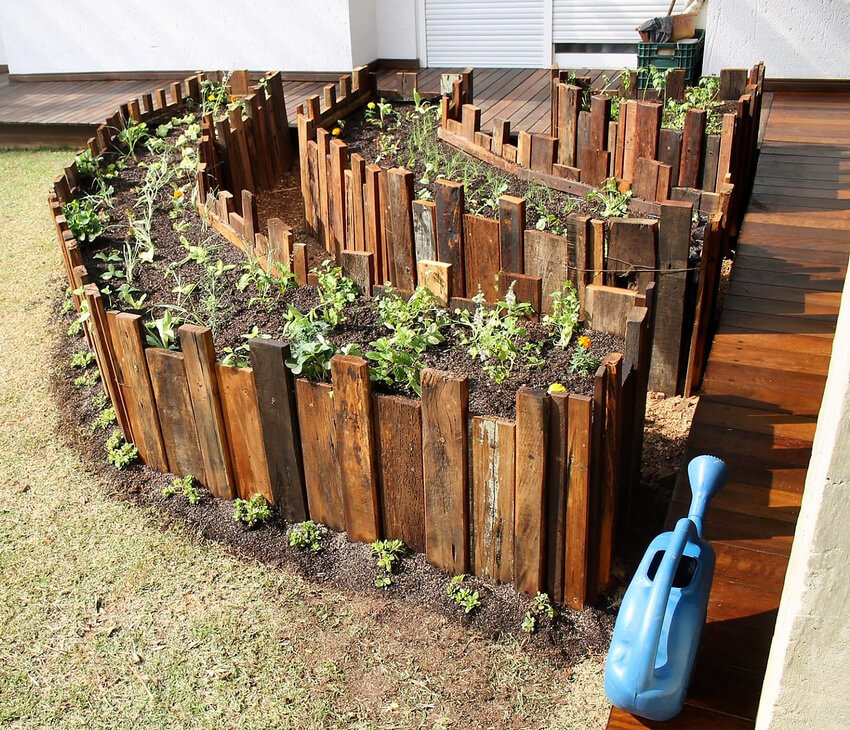 recycled pallets raised garden