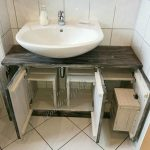 Recycled Pallets Made Sink With Storage Cabinet