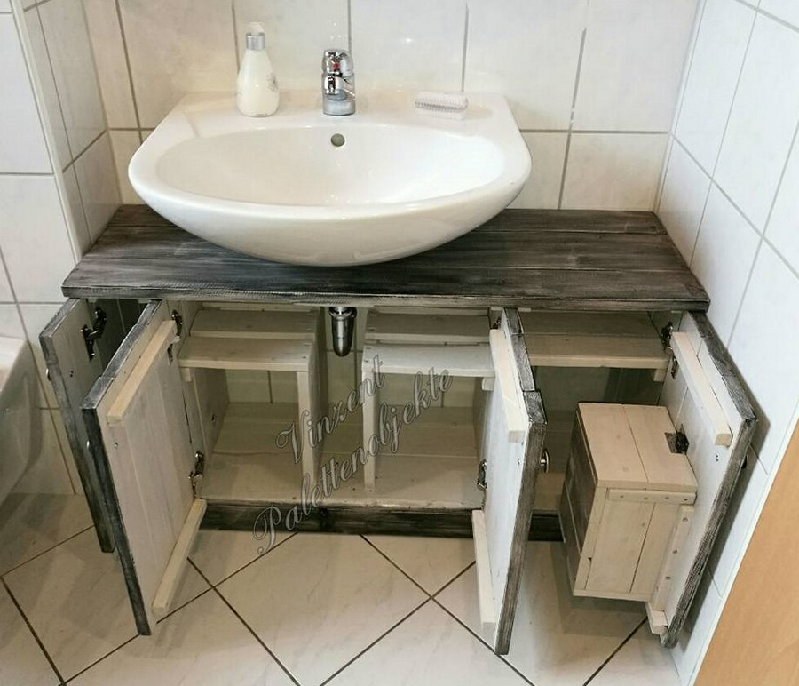 recycled pallets sink plan