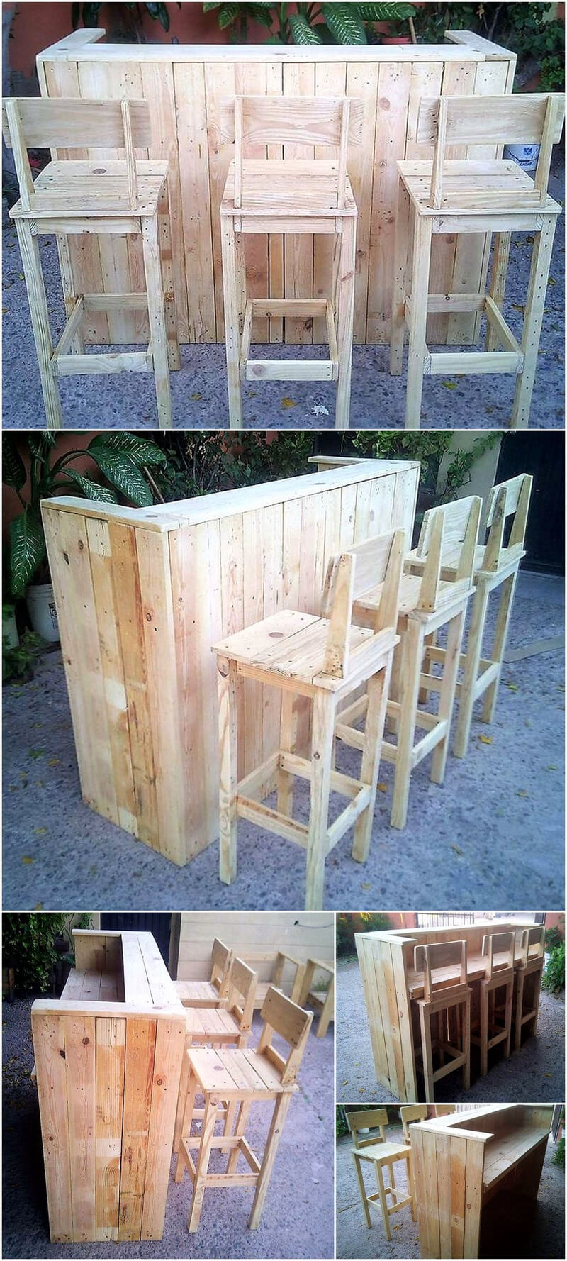 Awesome Ideas for Wood Pallets Made Bars