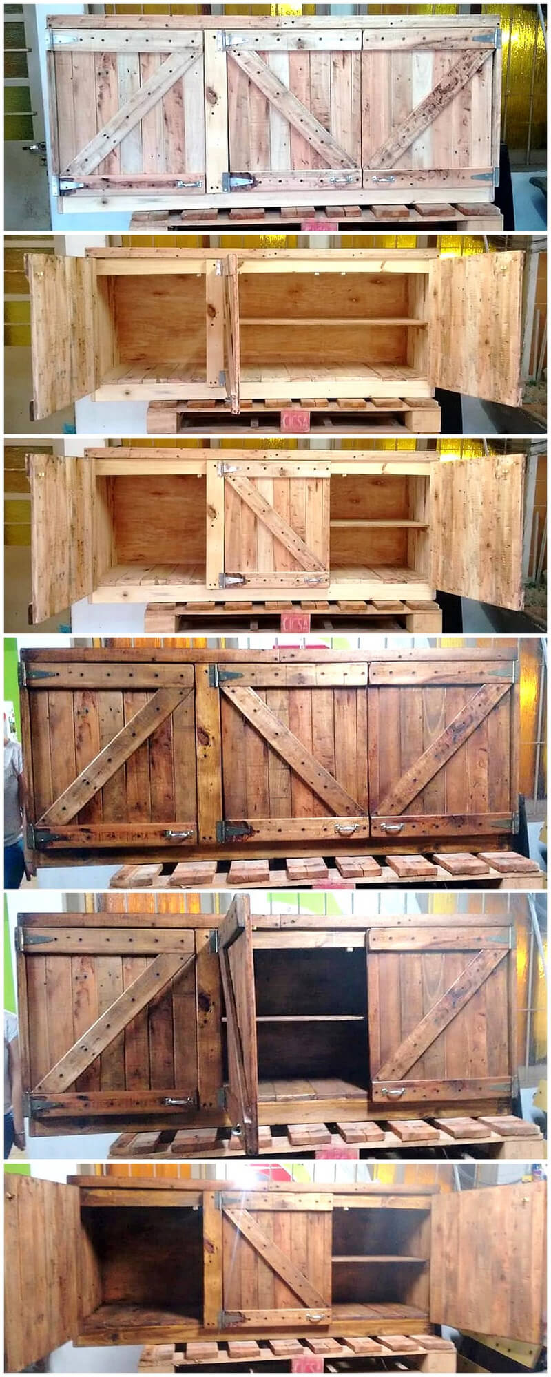 recycled wood pallets cupboard