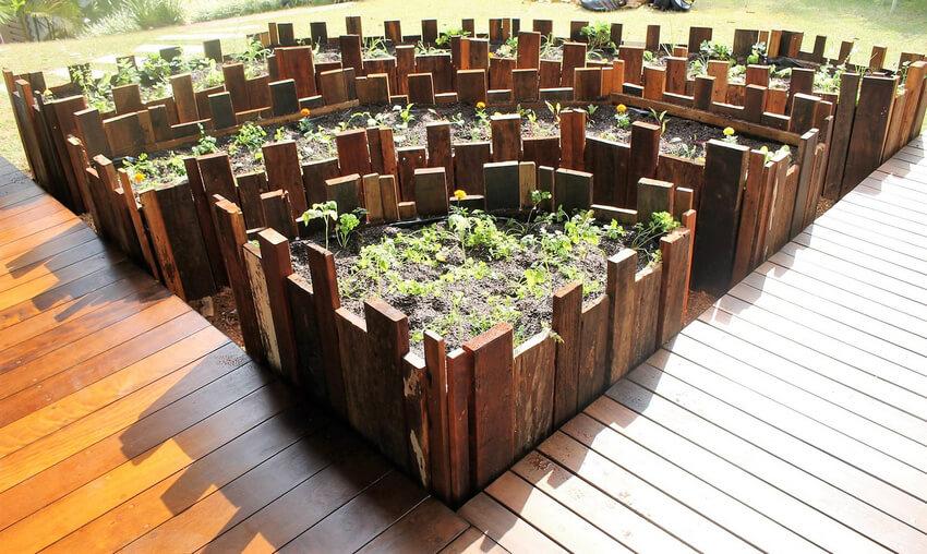 repurposed pallets raised garden